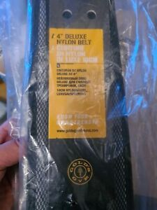 """Golds Gym Weight Lifting Belt Deluxe 4"""" Nylon Lumbar Back Support Power Training"""