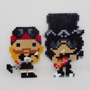 G'N'R Guns N Roses AXL & SLASH beaded retro coasters wall art fun pop rock