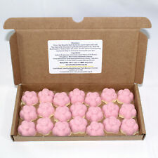 Bath Bombs Rhubarb & Custard scented 21 x 10g Flowers reduced plastic