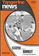 Football Programme>BLACKPOOL v BURNLEY Jan 1976 FAC