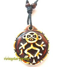 Men Women Rare Taino Indians Culture Petroglyph Figure Embossed Pendant Necklace