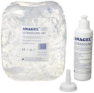 Anagel UGEL5000 Ultrasound Gel Bottle 5L with 250ml refill bottle