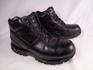 Nike Mens Air Max Goadome 2015 Black Leather ACG Boots US 10.5 599474-050