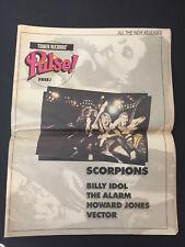Vtg 1984 Tower Records Pulse rock newspaper magazine Scorpions Billy Idol