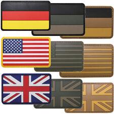 Klett-Abzeichen 3D Patch Deutschland USA Großbritannien Flagge oliv desert