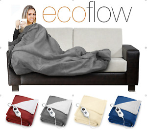 2022 Electric heated throw fleece blanket soft available in 4 colours ideal gift