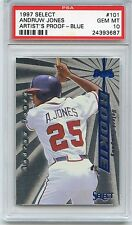 1997 Select Artist Proof-Blue #101 Andruw Jones PSA 10