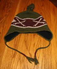 WINTER HAT WITH EAR FLAPS AND TASEL ONE SIZE WOOL AND ACRYLIC