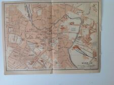 Norwich, England, Great Britain, 1901 Antique Street Map, Wagner & Debes, Atlas