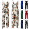 Women Strappy Rompers Jumpsuit Summer Beach Floral Trousers  Playsuit Holiday