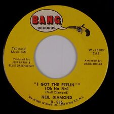 NEIL DIAMOND: I Got the Feelin / Boat that I Row US Bang NM- Rock Pop 45
