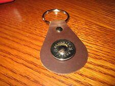 Brown Leather Remington® 12 ga shell key chain key fob NEW