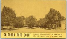 Grand Junction, CO Postcard COLORADO AUTO COURT Highway 6 & 24 Roadside c1950s