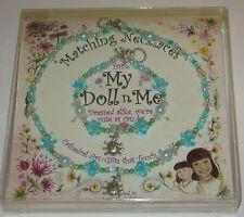 "My Doll n Me Matching Necklaces Teal Ladybug Set 12"" Girl New Dress Alike"