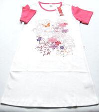 Nachthemd Gr.110 Kanz NEU 100% Baumwolle weiß pink KA Blumen kinder sommer SSV