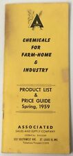 Old Vintage Chemicals Farm Home Product List Price Guide Brochure St. Louis 1959