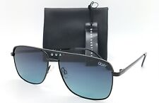NEW Quay Poster Boy Sunglasses Black Teal Fade AUTHENTIC Metal Polarized Aviator
