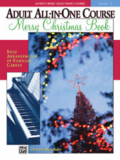 Alfred's Basic Adult All-in-One Christmas Piano, Music Book 1-Brand New On Sale!
