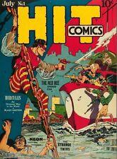 Hit Comics #1 Photocopy Comic Book Hercules, The Red Bee, Neon, Strange Twins