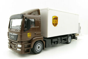 Siku 1997 - MAN TGS UPS Delivery Truck with Tail Lift and Container - Scale 1:50