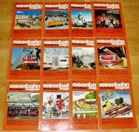 12x Eisenbahn Modellbahn 1991 Magazin komplett Hefte 1-12 Sammlung Modellbau Lok