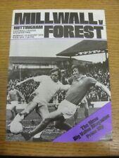 19/08/1974 Milwall v Nottingham Forest  . Footy Progs (aka bobfrankandelvis) are