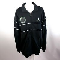 Embroidered Air Jordan Jumpman Black Zip Up Track Jacket Coat Size 3XL
