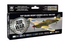 VALLEJO RAF Desert Scheme & MTO 1940-1945 Model Air 8 Colors 71163 FREE SHIP