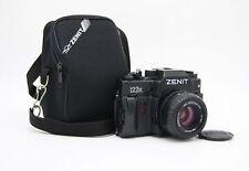 New Zenit 122K SLR film camera with Zenitar 2/50 in box. KMZ