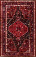 Vintage Nomadic Hamadan Oriental Area Rug Wool Hand-Knotted Tribal Carpet 5'x9'