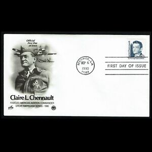 HuskyStamps ~ United States #2187, FDC, Art Craft Cachet, Chennault, 5 pictures