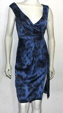 Stella McCartney blue silk animal print dress 40 6 NWT $1985.00