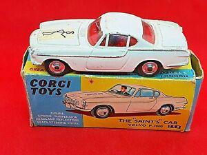 Vintage Corgi Toys #258 The Saints Car Volvo P1800  Original Box -  1965