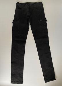 Billabong Size 10 Women Pants - Patriate Black Skinny Leg  Cargo Pants