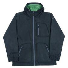 iNi Cooperative BREAKWIND Mens Zip Front Hoodie Jacket Black Large NEW