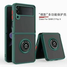 For Samsung Galaxy Z Flip 3 5G, Shockproof Hybrid Armor Ring Holder Case Cover