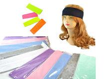 Hairband Bandana Headband 1 13/16in Wide 11 Colours Black Mint Pink Neon