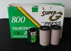 20 ROLLS 35mm FUJI 800 SUPER G COLOR PRINT FILM REFRIGERATED 20 YEARS exp 1996
