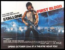 FIRST BLOOD ✯ CineMasterpieces RAMBO ORIGINAL RARE SUBWAY MOVIE POSTER 1982