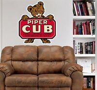 Piper Cub Bear Vintage Aircraft Sign Repro WALL DECAL MAN CAVE MURAL PRINT