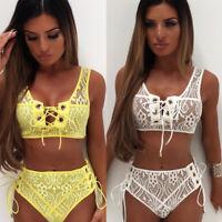 Women Bandeau Padded Push Up Strapless Swimsuit Bathing Suit Swimwear Bikini Set
