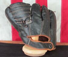 Vintage 1950s Denkert Black Leather Baseball Glove Hank Thompson Negro Leagues