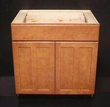 "Kraftmaid Cinnamon Maple Kitchen Base Or Bathroom Vanity Sink Cabinet 33"""