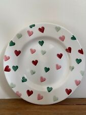 """Emma Bridgewater Pink And Green Hearts 8.5"""" Plate New & 1st Quality"""