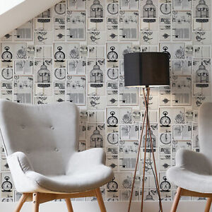 Fresco Netural Text Book Typography Wallpaper (Was £15)
