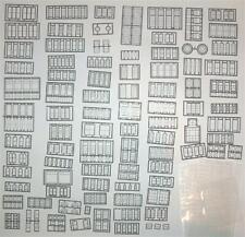 Tichy HO Scale Window Assortment 290 Pieces   #8219   Bob The Train Guy