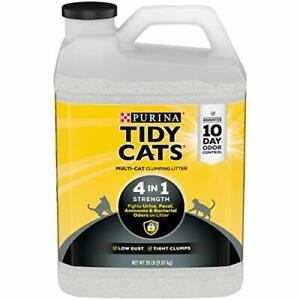 Purina Tidy Cats Clumping Cat Litter 4-in-1 Strength Multi Cat Litter - 2 20 ...