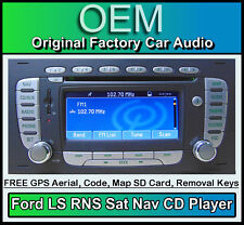 Ford Focus Sat Nav CD player, Ford LS RNS car stereo radio + code & Map SD Card