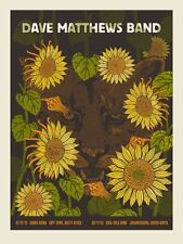 Dave Matthews Band Poster 2013 Cape Town South Africa Lion #/645 Rare!