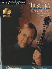 20 Easy Banjo Solos Music Book Tony Trischka CD LESSON TUTOR PICKING LICKS SONGS